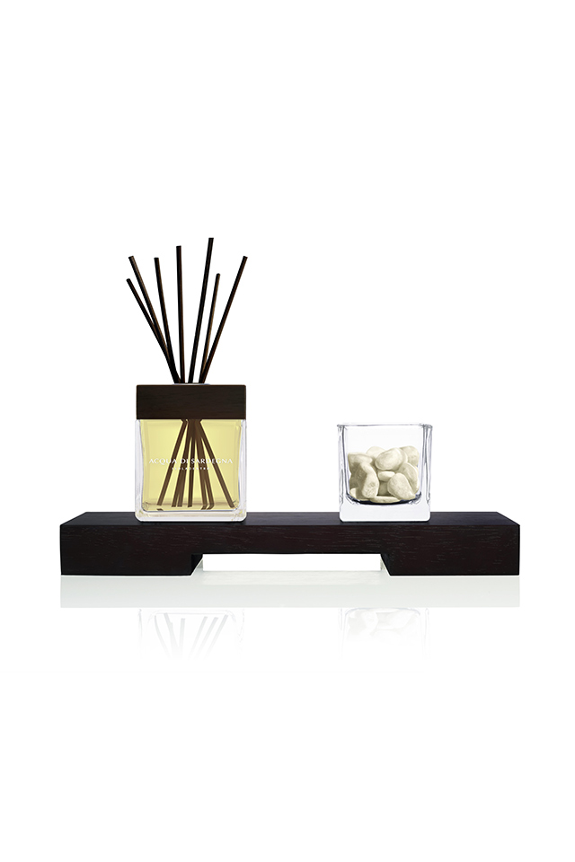 WATER OF SARDINIA - DIFFUSER WITH TRAY, GLASS AND STONES - SALTY OR MARINE FRAGRANCE (SALINO) 200.00 ML