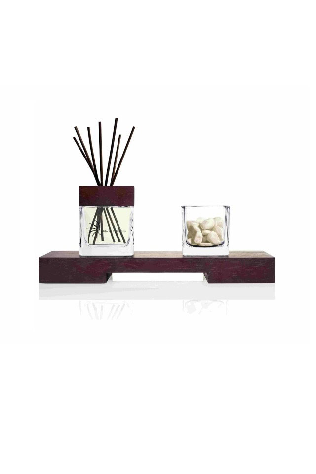 ARIA DI SARDEGNA - DIFFUSER WITH TRAY, GLASS AND STONES - JUNIPER (GINEPRO) 200.0 ML